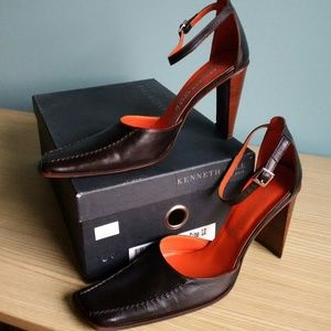 Kenneth Cole STITCH IN TIME heels - Drk Brown 8.5M